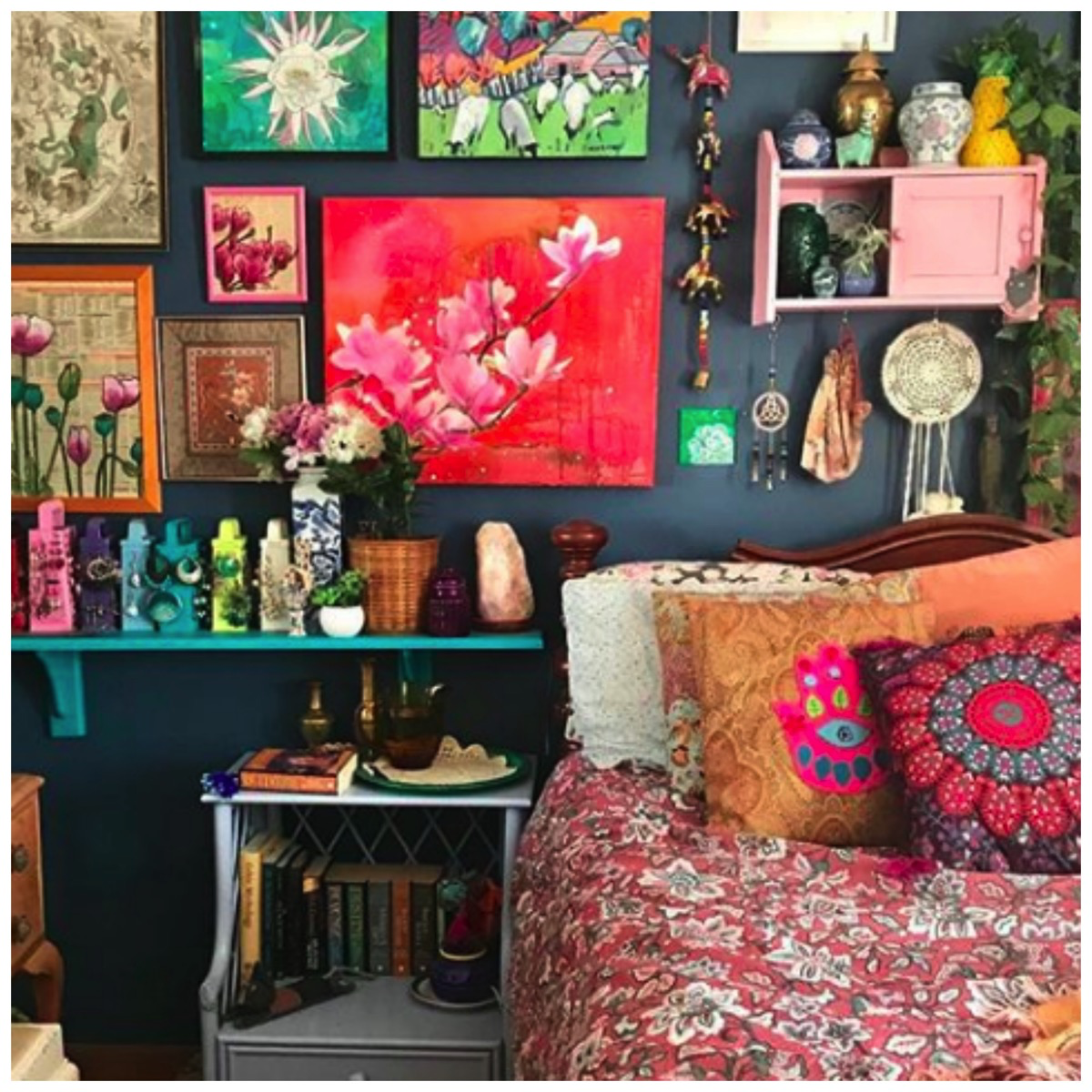 Home Tour: Colorfully Collected Boho Home Filled To The Brims With Love and Light