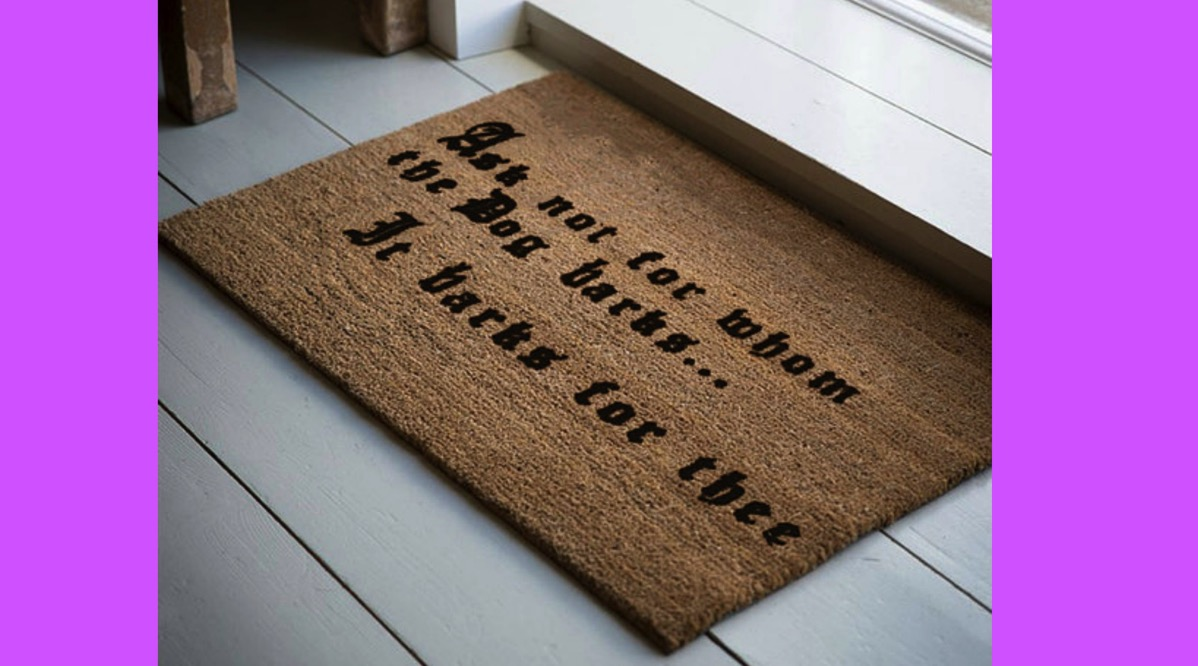 Dog lover welcome mat