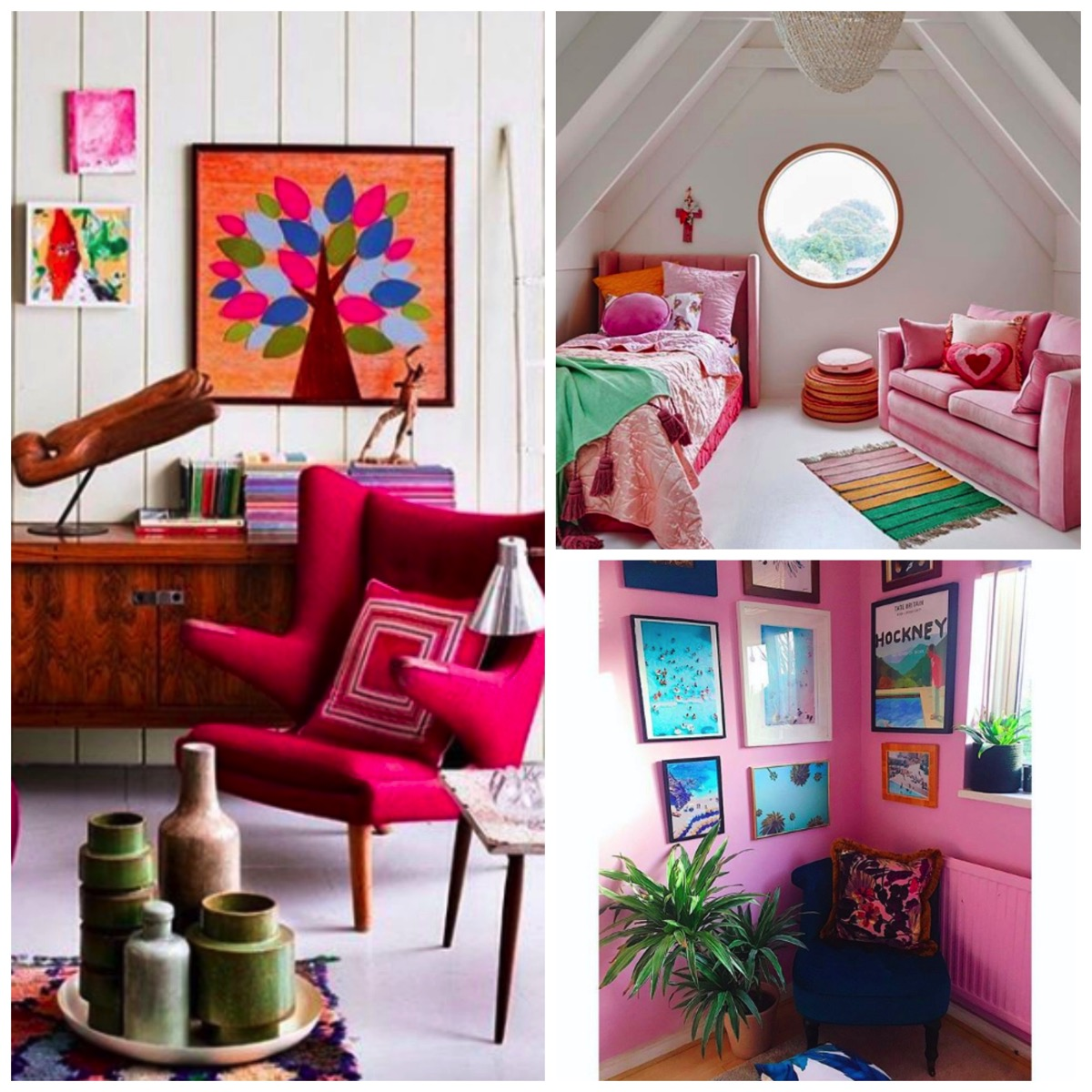 Pink chair and pink home decor ideas