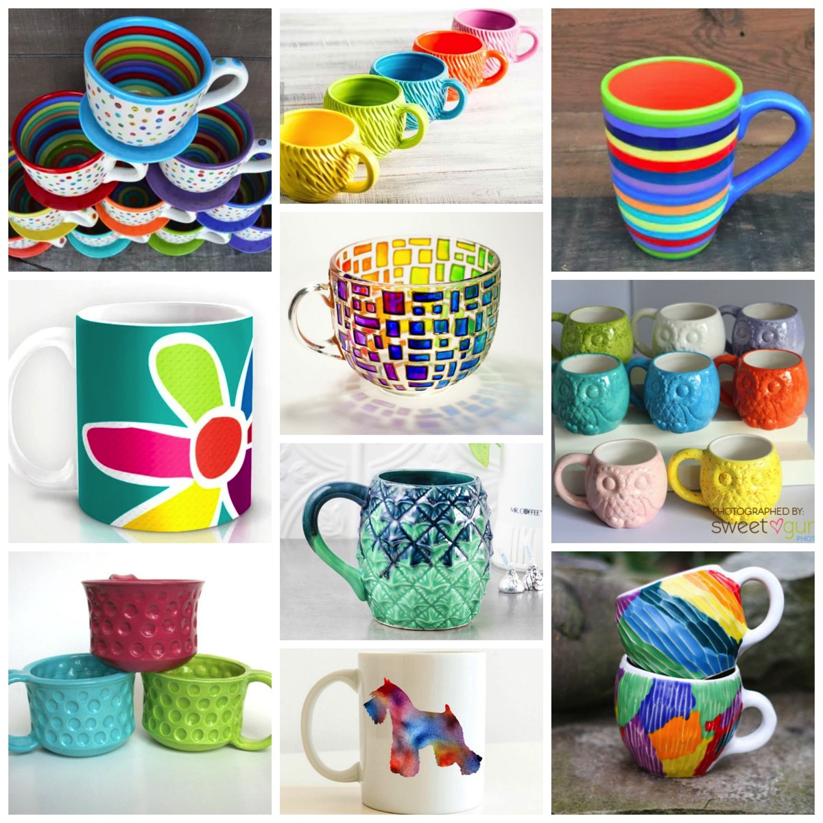 Top 10: Most Colorful and Fun Coffee and Tea Cups On Etsy