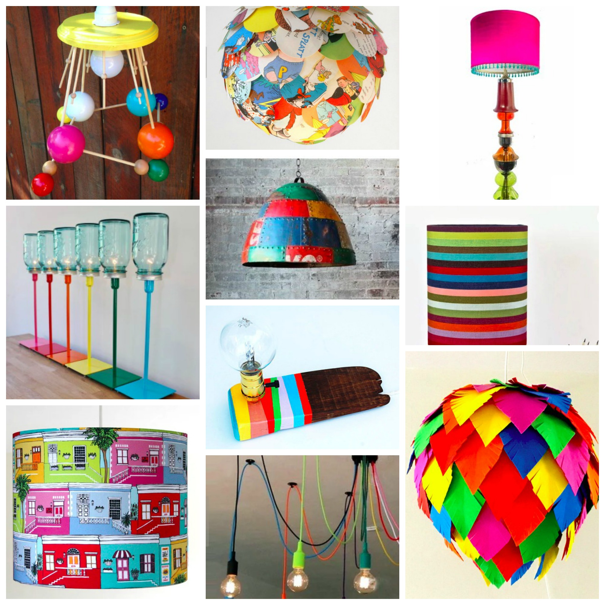 Top 10: Most Colorful, Bold and Unique Lamps and Lights From Etsy For Your Home