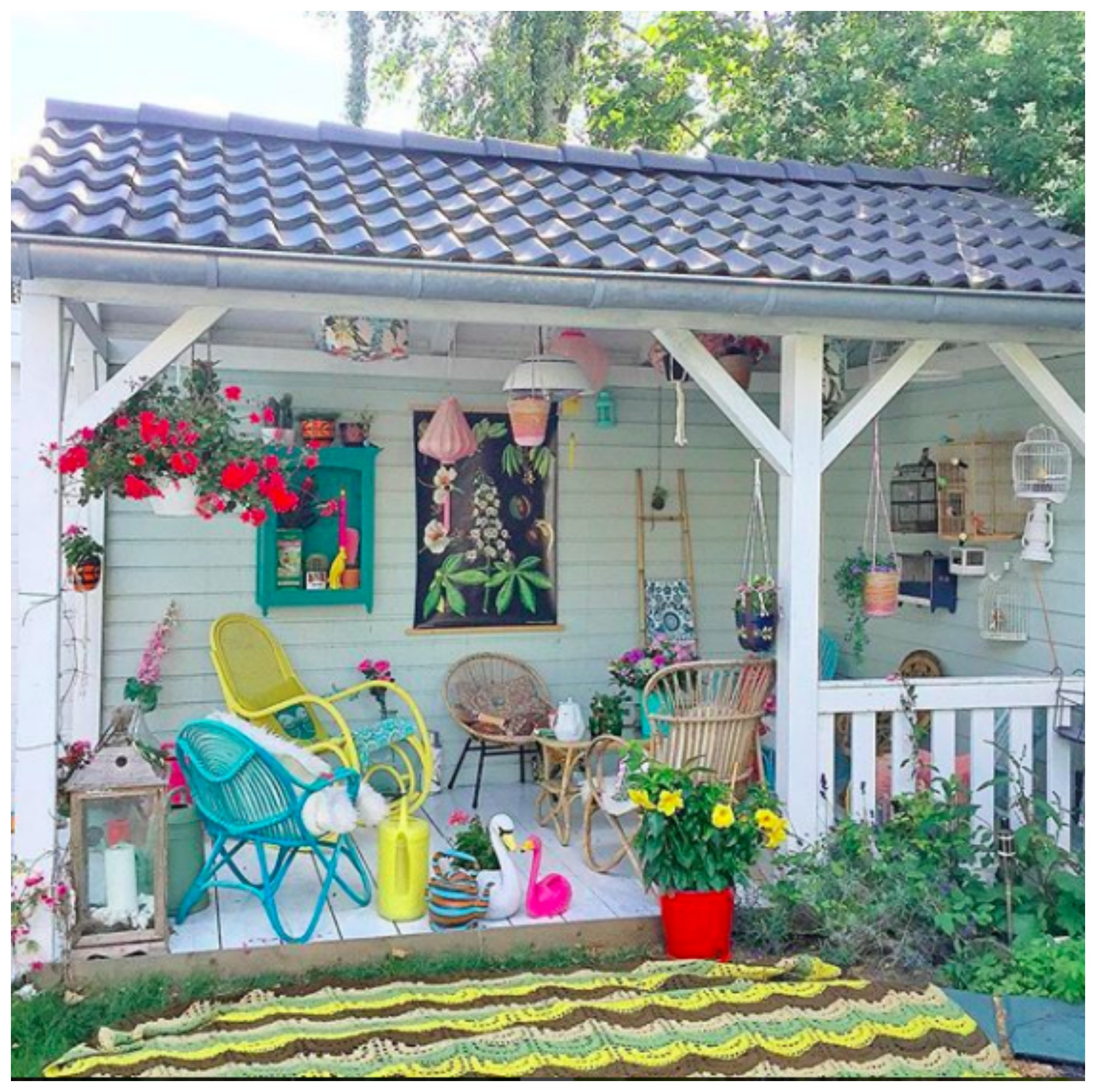 Home Tour: Corine's Colorful Vintage Inspired Floral Cottage in the Netherlands