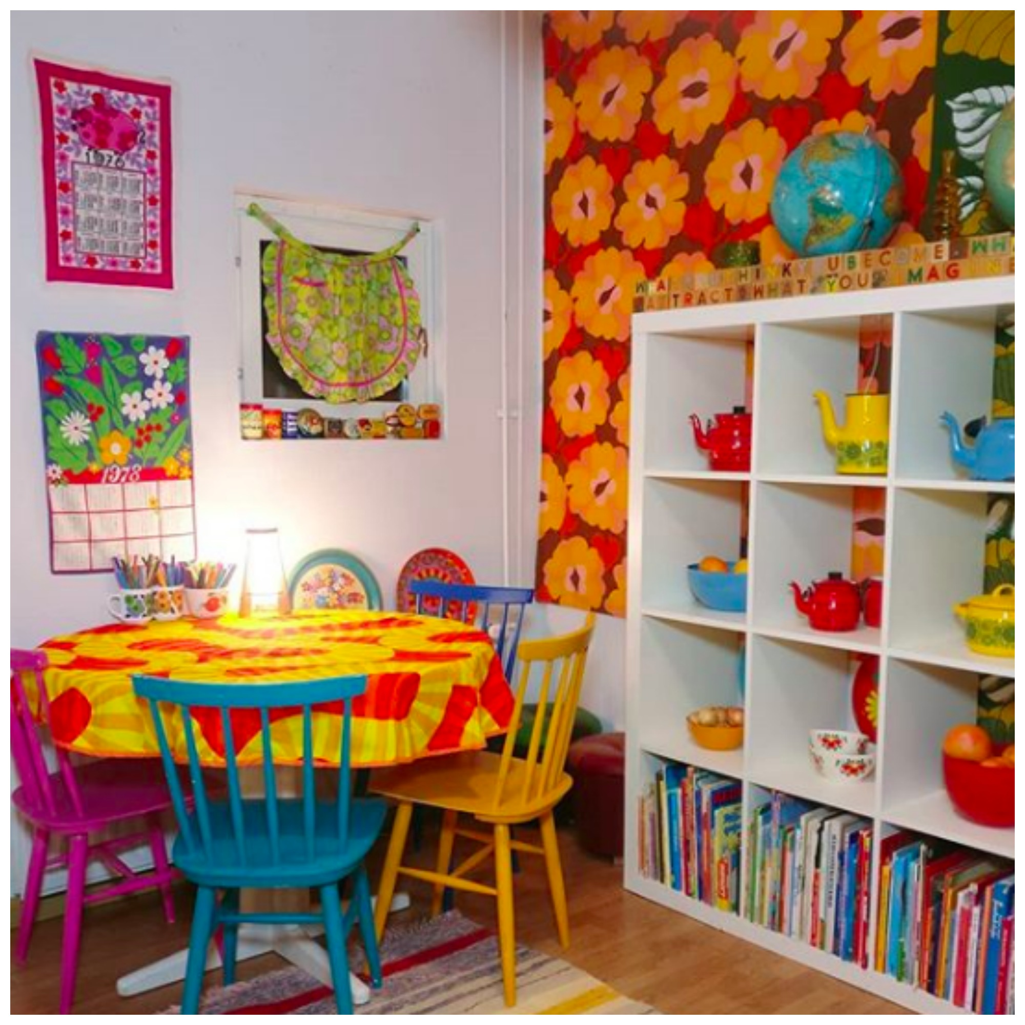 Home Tour: A Whimsical Wonderland of Color and Vintage Collections at Maija's Home In Finland