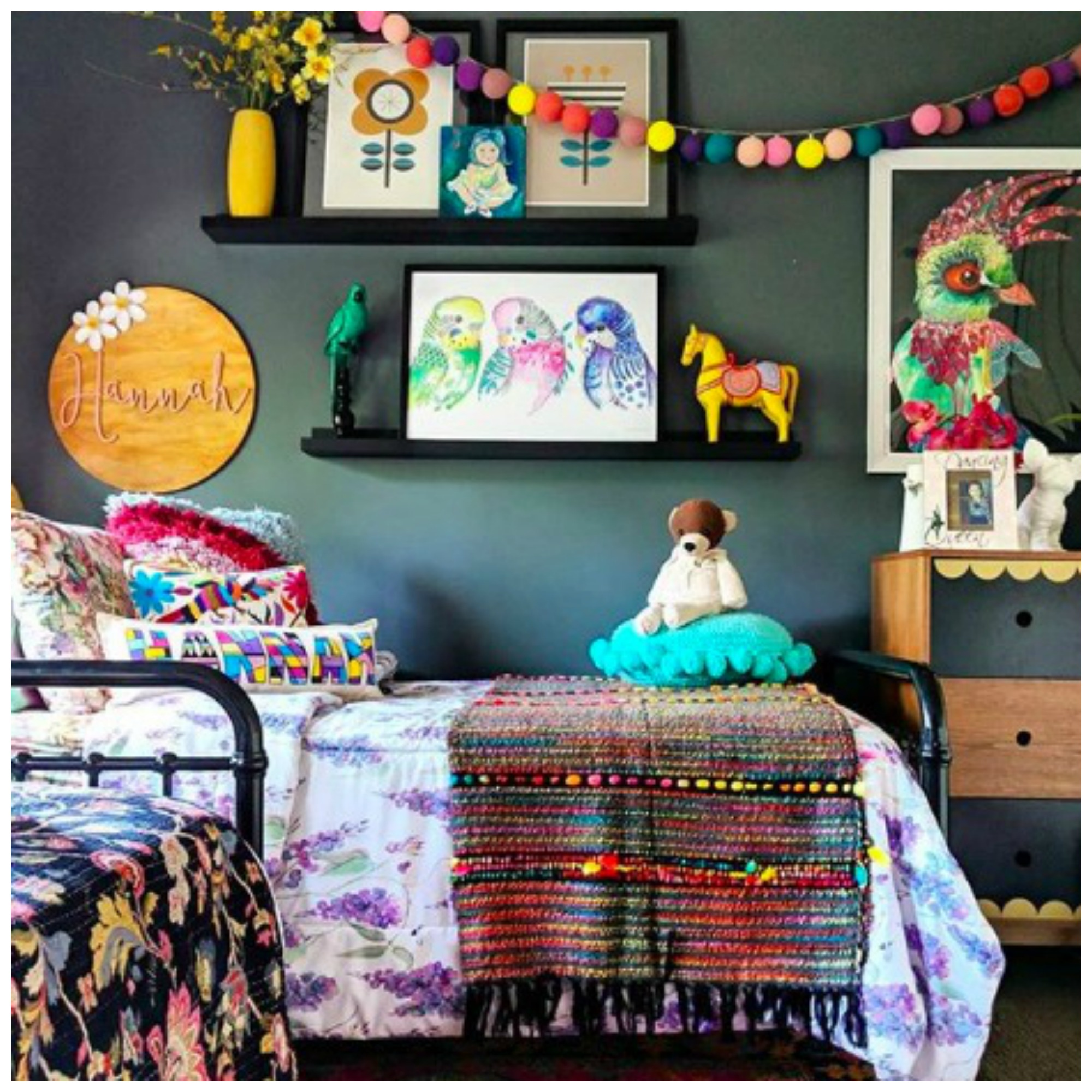 Home Tour: The Colorful Kid Friendly Boho Home In Queensland Australia of Brandi Love, The Hectic Eclectic