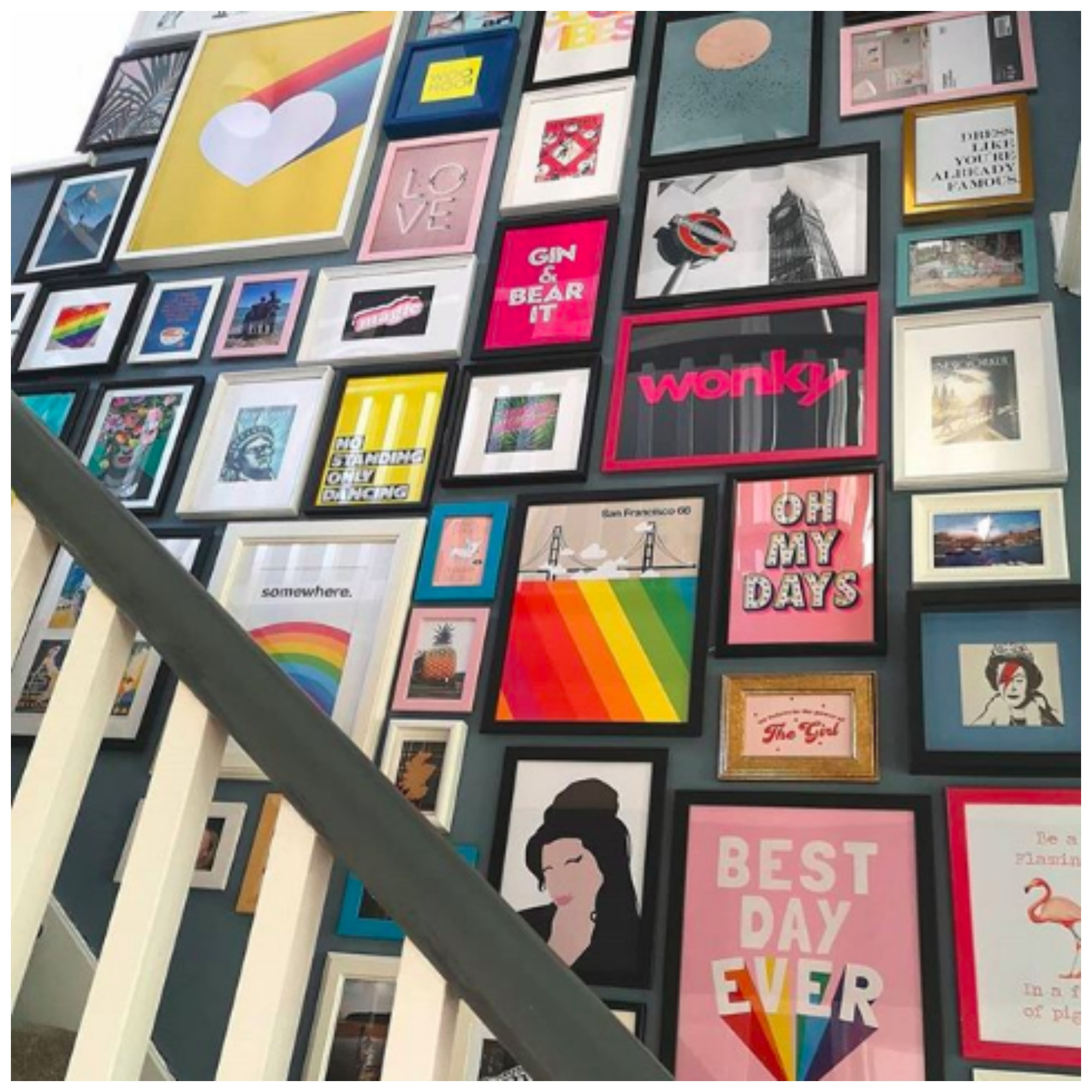 Home Tour: The Epic Colorful Gallery Wall Home of Emma, better know as the FlawSomeHome Will Inspire You
