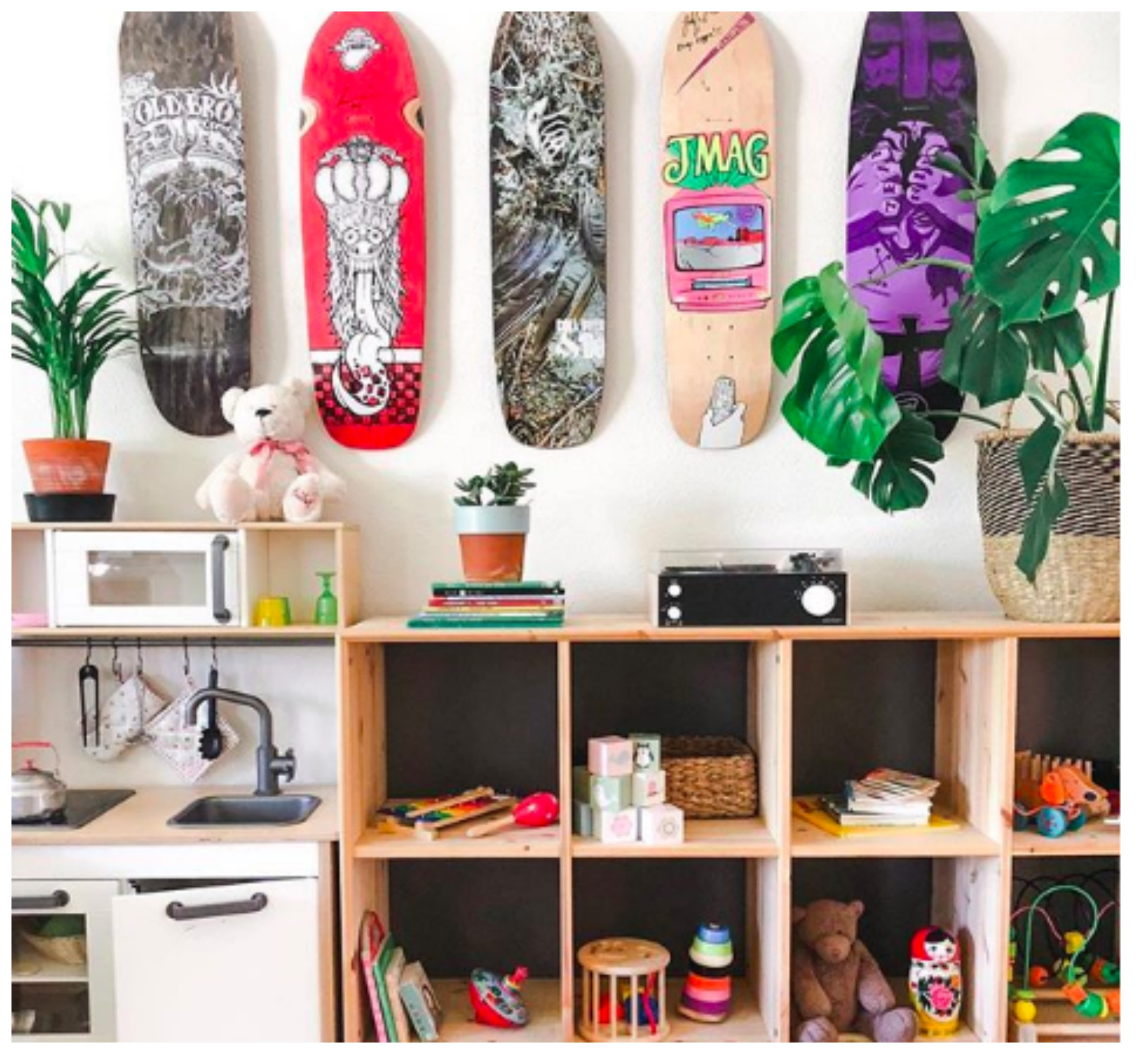 Home Tour: Earthly Urban Design Home of Christin in Stockholm Sweden is a Skate Board Lovers Dream