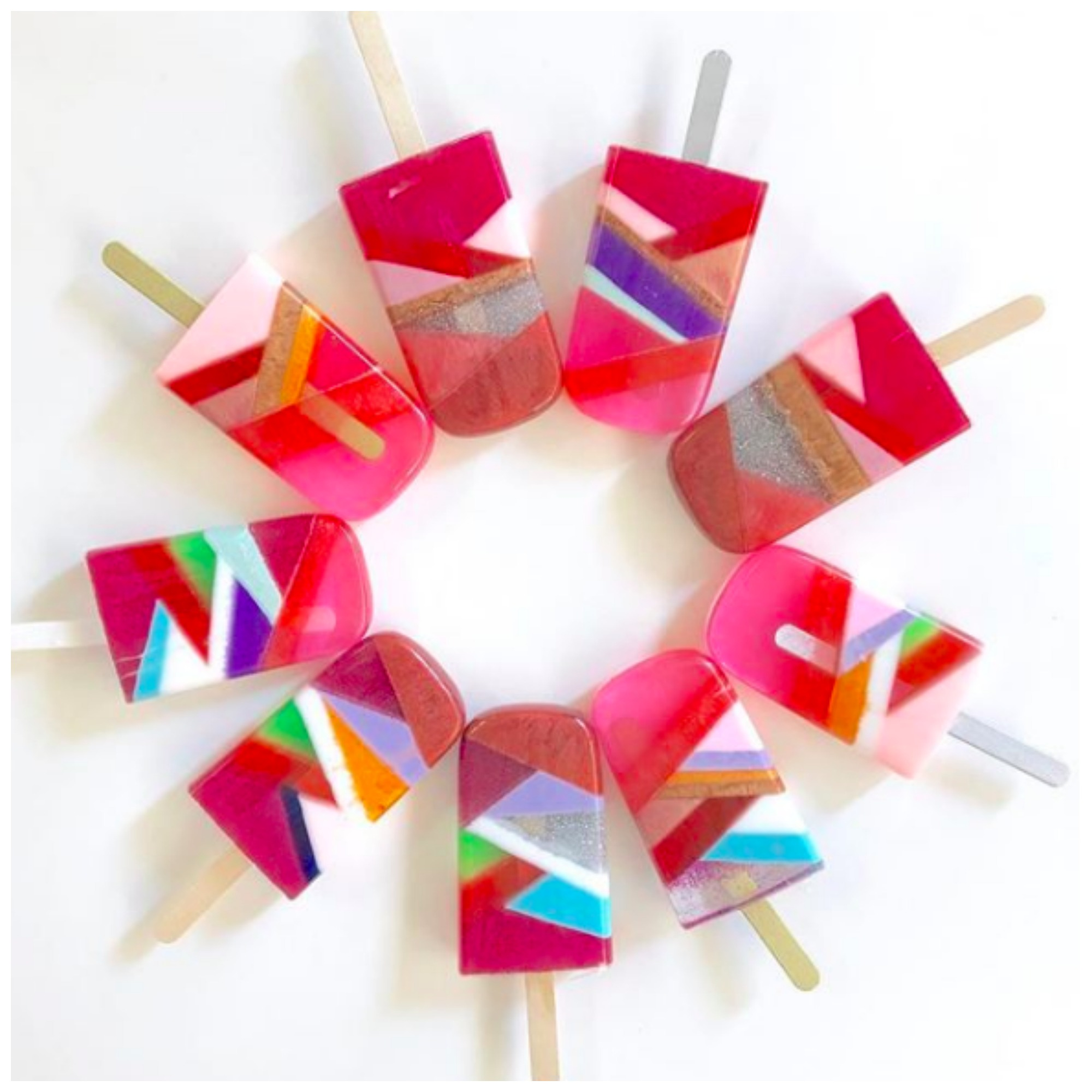 Artist Interview: The Cool and Colorful Popsicle, Lollipop and Ice cream Art Looks So Good You'll Want To Eat them!