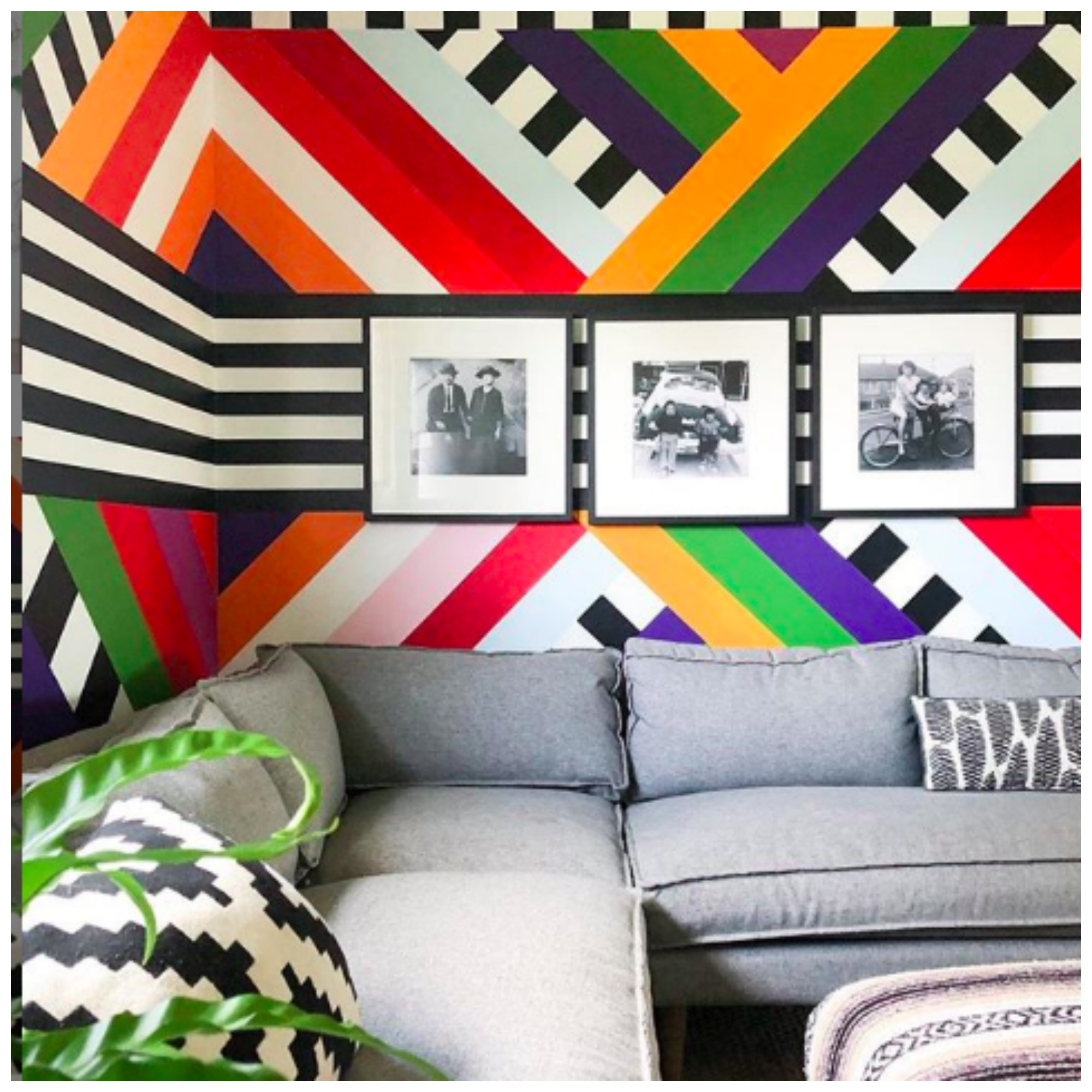 Home Tour: Banyan Bridges, Fun and Funky Unconventional Home Full of Colorful Unique DIY Painted Wall Murals By Racheal Jackson