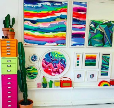 Artist Interview: Siobhan Cooney's Hypnotizing Colorful Mixed Media Stitch and Paint Works of Art