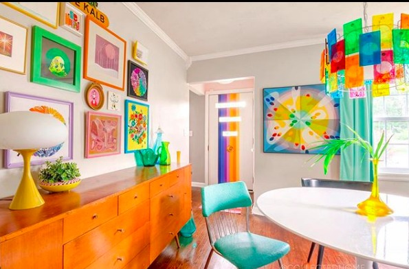 Home Tour: Colorful Retro Digs of Nikki from Collected Home
