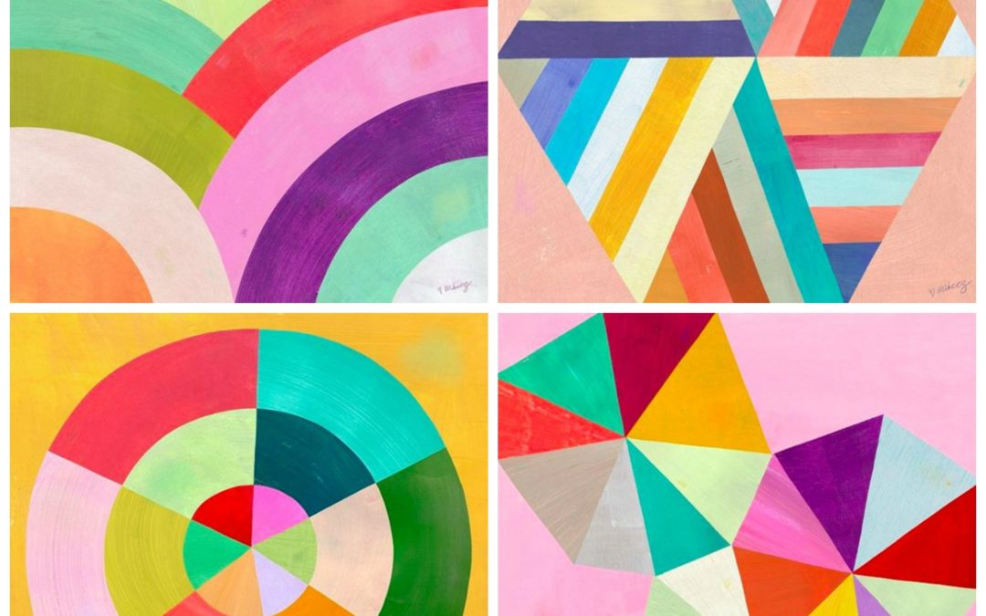 The Colorful Geometric, Animal and Landscape Art By Melanie Mikecz is Sure to Transport You To Far Away Land of Whimsy