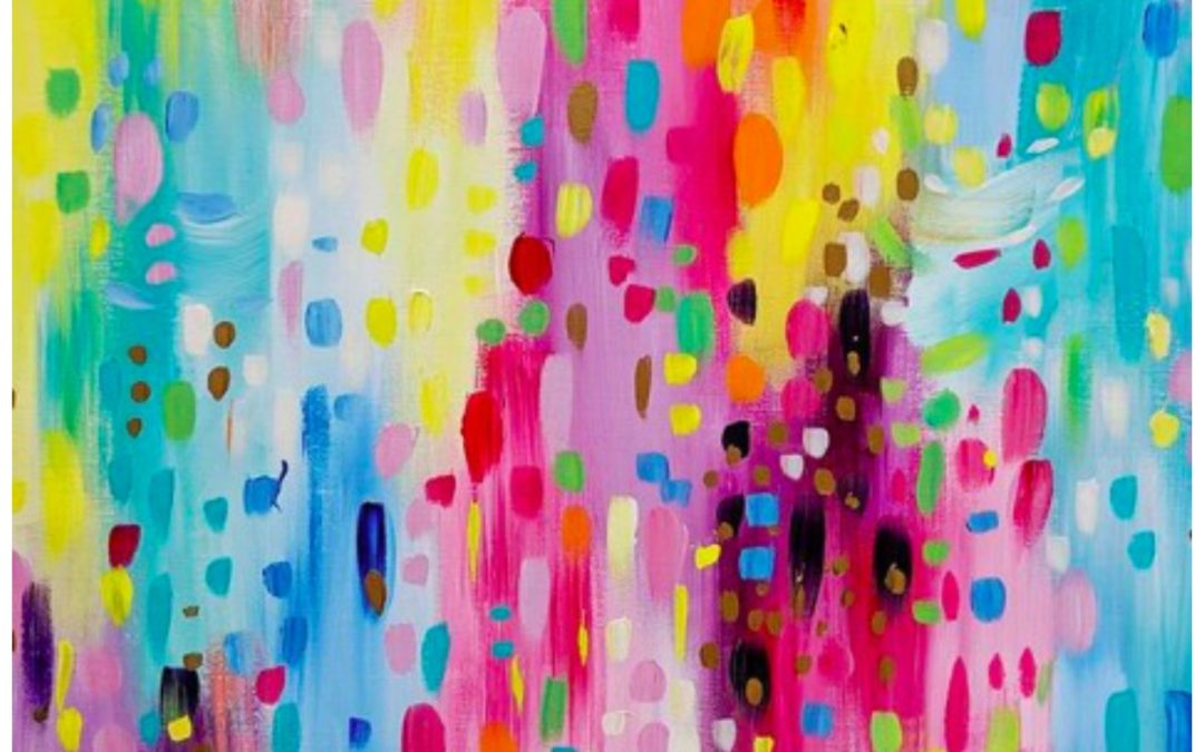 What Does It Look Like Inside of a Rainbow? The Colorful Paintings of Sarah Coey Transport You Inside of One