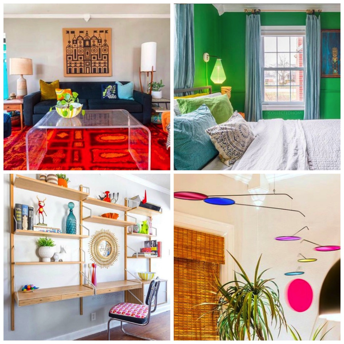 Colorful retro style home vintage decor nikki of collected home