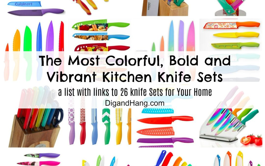 Epic Decor List: The Most Vibrant and Colorful Kitchen Knife Sets For Your Home