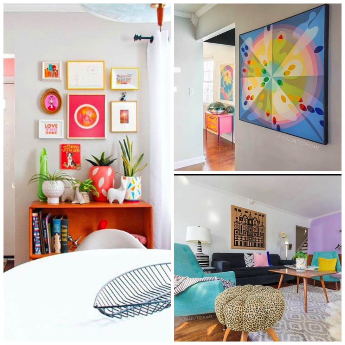 Vintage pastel colored home of nikki from collected home