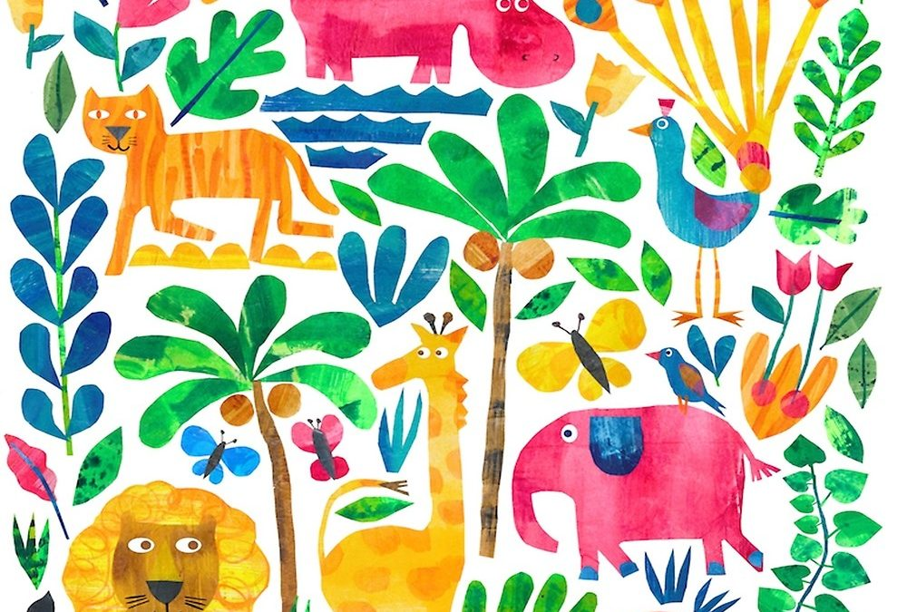 The Whimsical, Playful and Colorful Collage Illustrations of Tracey English Are A Fantastic Addition to Any Colorful Home