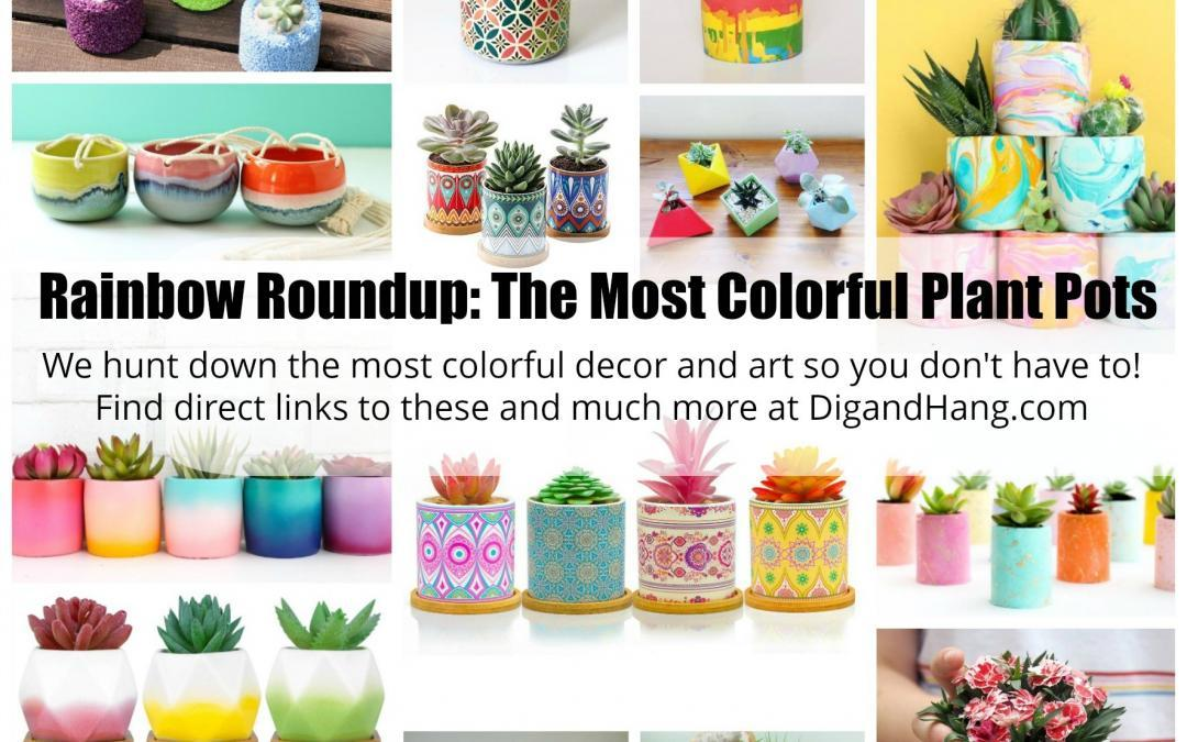 Rainbow Roundup: Colorful Indoor and Outdoor Planter Pots for Succulents and Plants, over 70 Colorful Modern, Geometric, Animal and Solid Color Pots