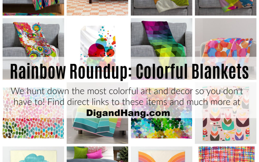The Most Colorful Throw Blankets For Your Home