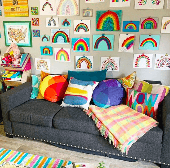 Rainbow Gallery Wall