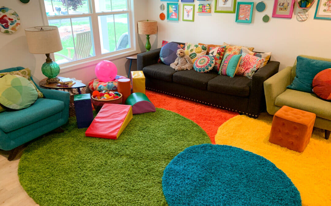 Colorful Shag Rug Living Room Revamp with ShagRugs.com