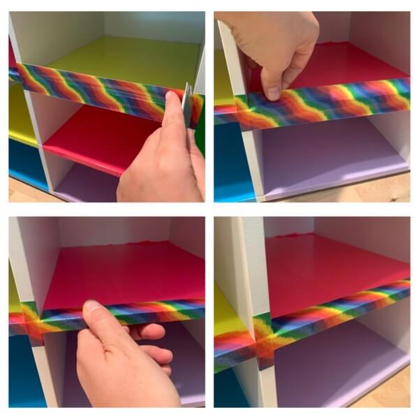 Shoe bench DIY with Duct tape 3