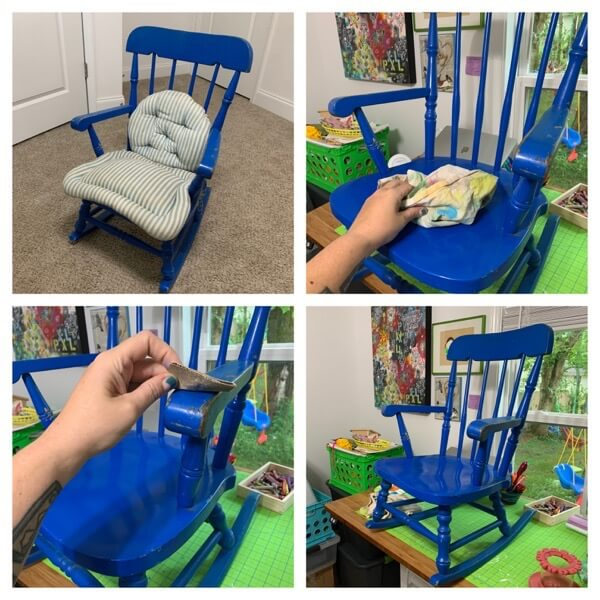 Repainting an old childrens rocking chair