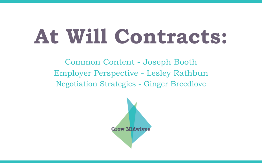 At Will Contracts
