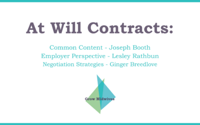 Negotiating At Will Contracts
