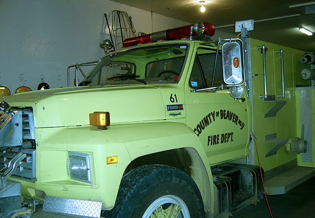 health and safety partnerships - County of Beaver Fire Truck