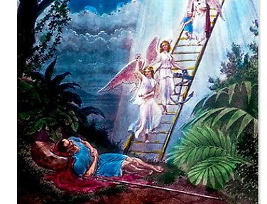 behold a ladder set up on the earth, and the top of it reached to heaven