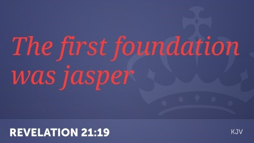 The First foundation Jasper