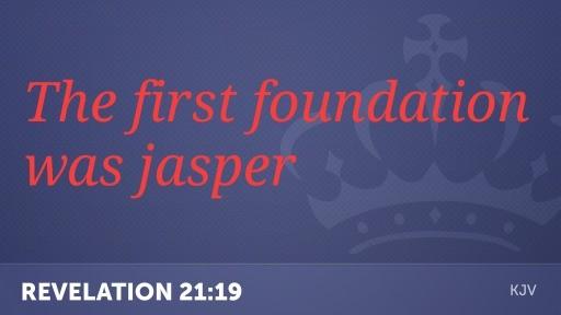 The First foundation Jasper