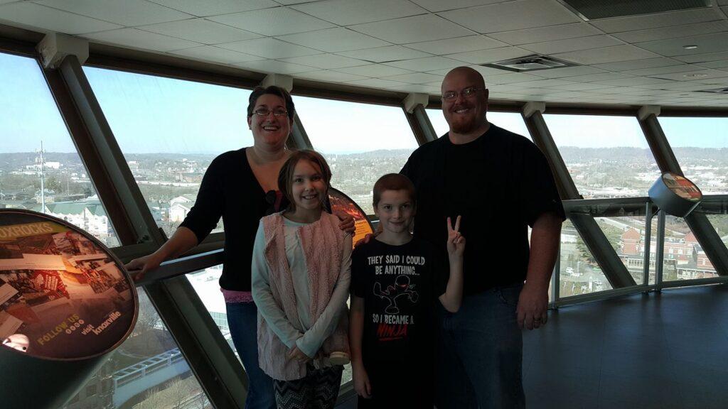 Thumma family on vacation in Knoxville, TN