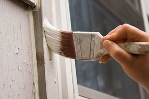 Repair any cracked or peeling paint