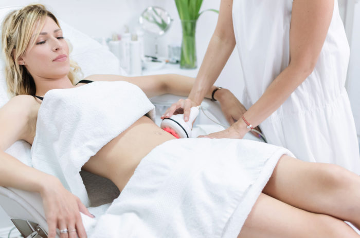 radiofrequency treatment on the body