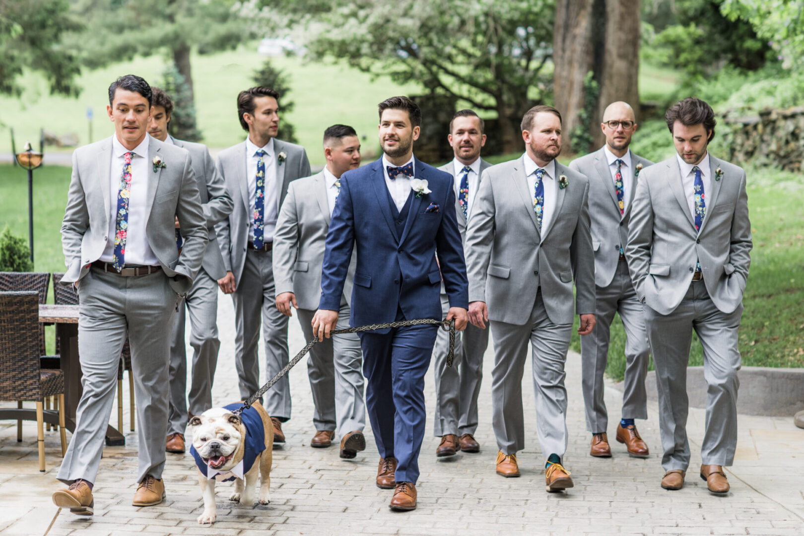 Groom, Groomsmen, best dog