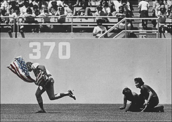 Baseball MLB Rick Monday Saves Flag 695 Color