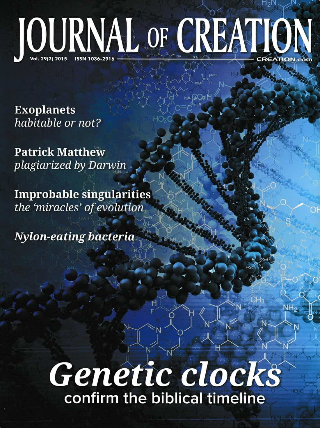 Journal of Creation Cover