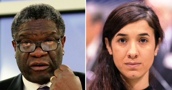 A Medical Doctor and  a Human Rights Activist, champions for sexual assault victims, win Nobel peace prize 2018