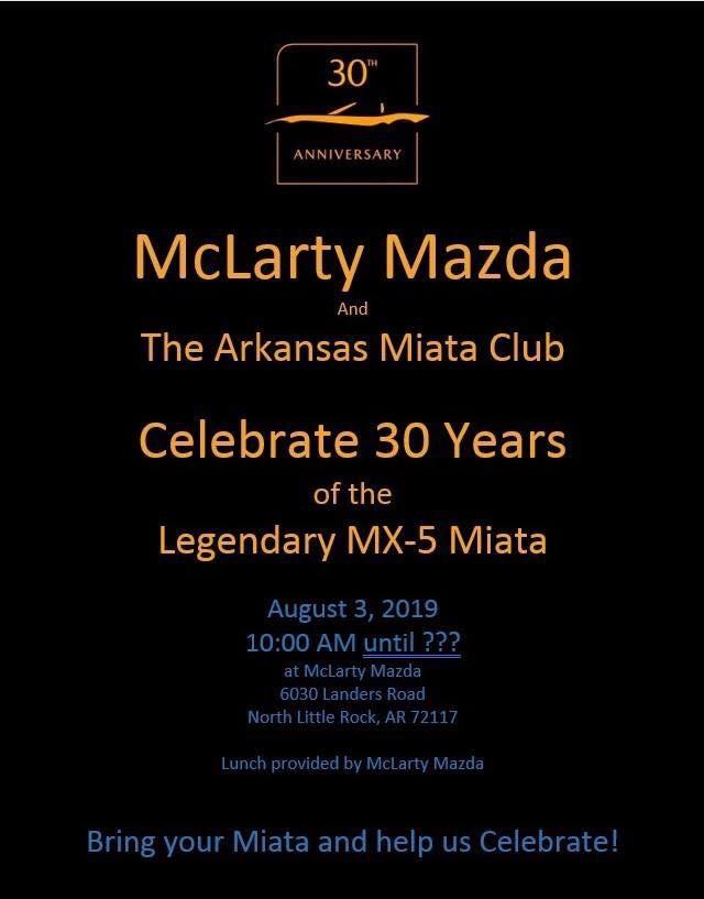 McLarty Mazda Miata 30th Anniversary Celebration