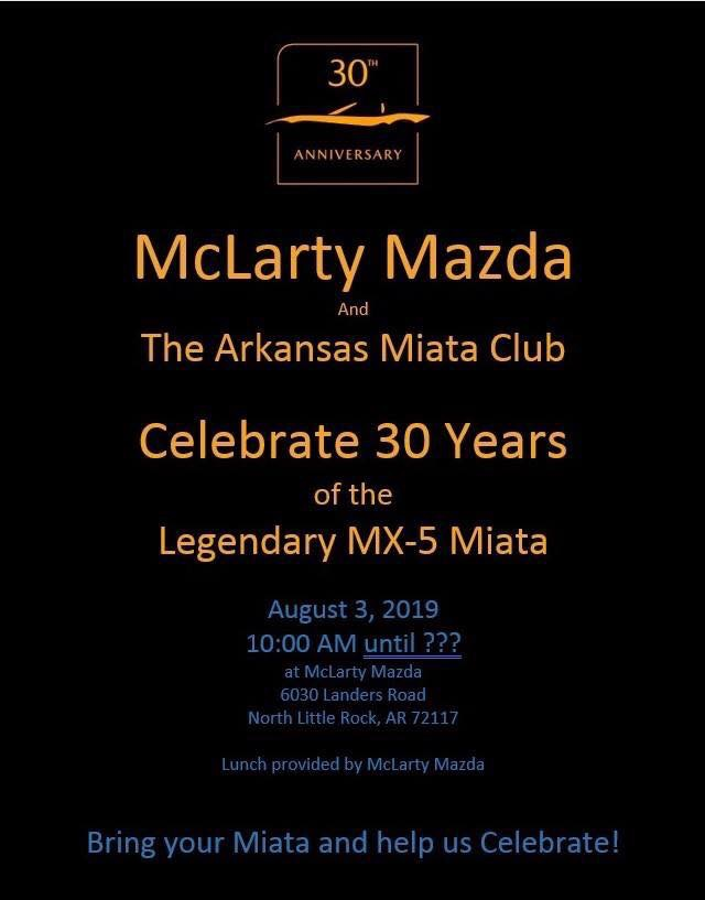 McLarty Mazda Miata 30th Anniversary Celebration