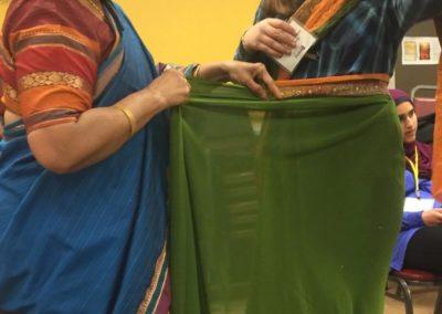 RDJ student puts on sari