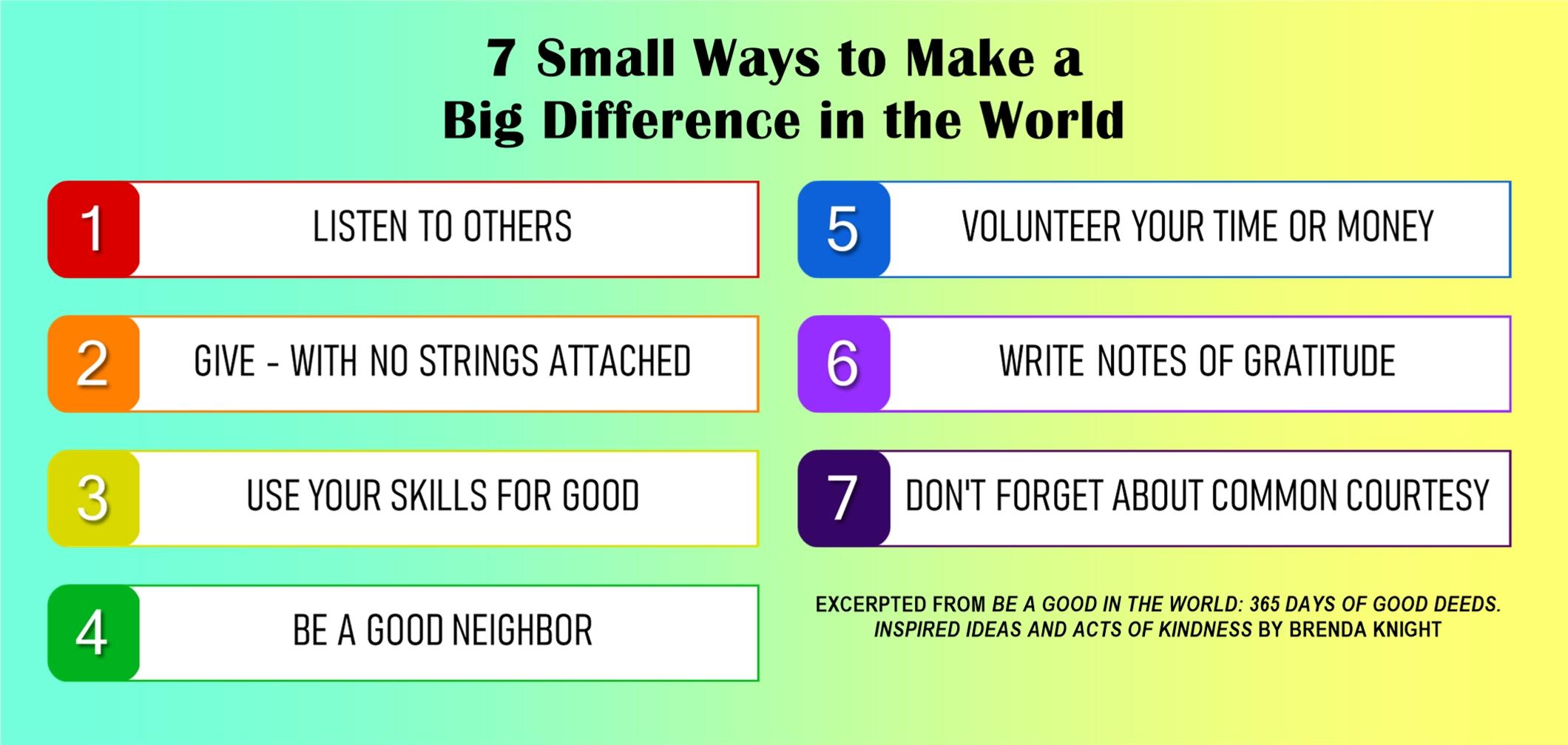 7 Small Ways