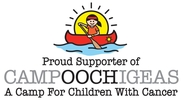 Proud supporter of campoocigeas camp for children with cancer, logo