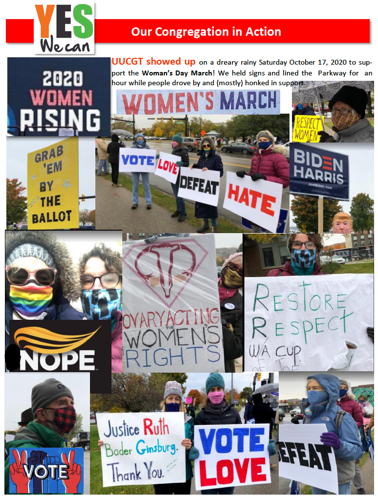 2020 Women Rising Demonstration in Traverse City
