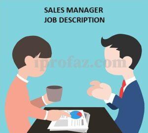 Sales manager job description sample