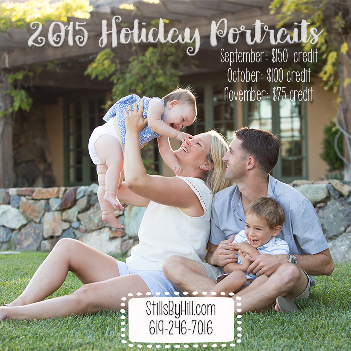 san diego family photographer holiday pictures