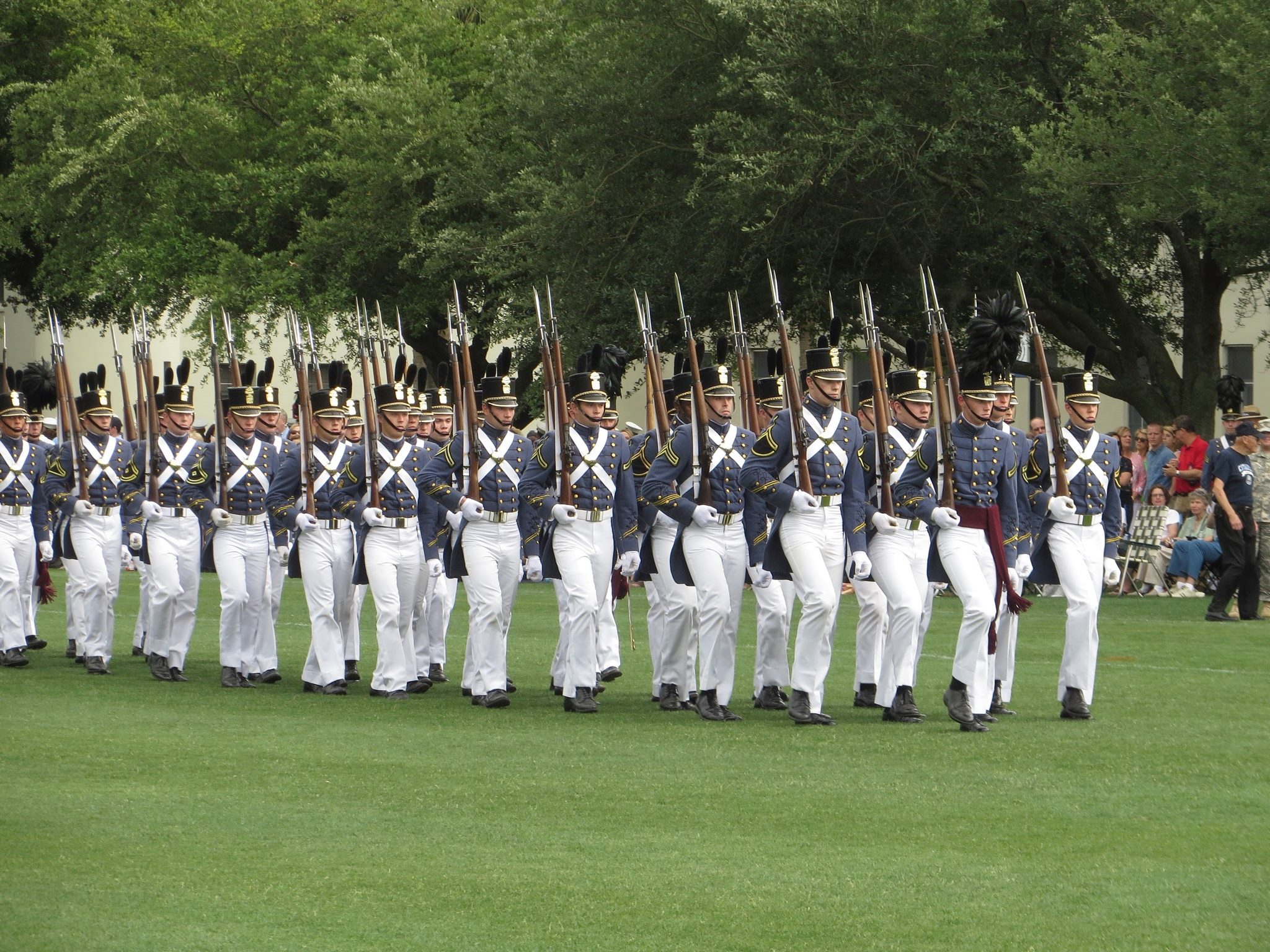 2016 SUmmerall Guards enter the parade field