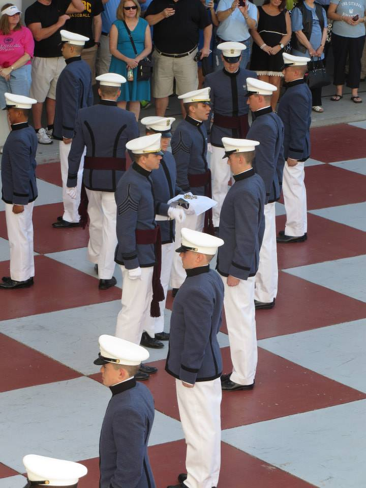 Bravo Company knobs receive their company letter. October 2014