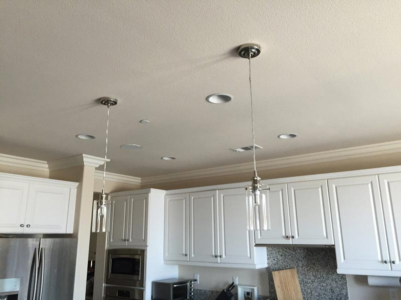 Ceiling drywall replacement